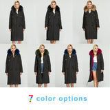 Long Parka Windproof Coat with Detachable Real Raccoon Fur - Layon&Loli