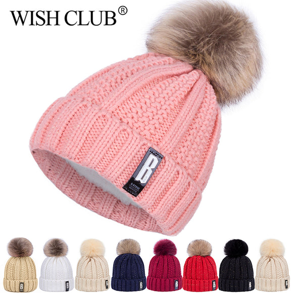 Cotton Knitted Pom Poms Hat For Girls - Layon&Loli