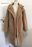 teddy coat faux fur long coat women lamb fur coat - Layon&Loli