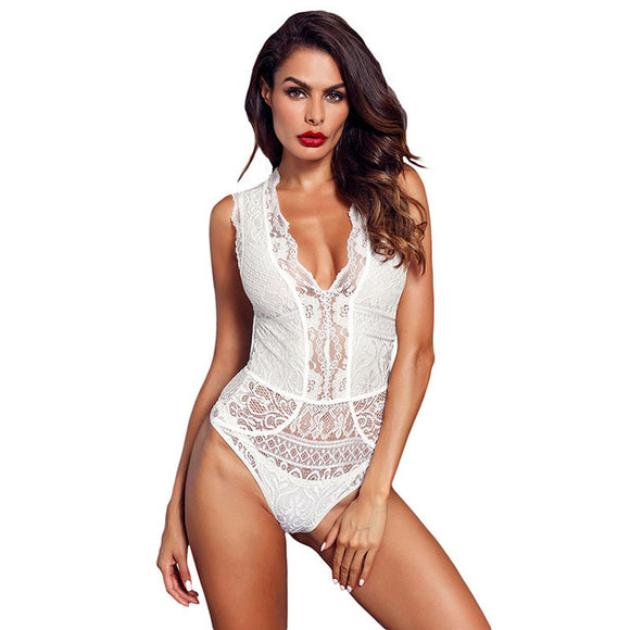 Sheer Floral Lace Bodysuit Women Sexy - Layon&Loli