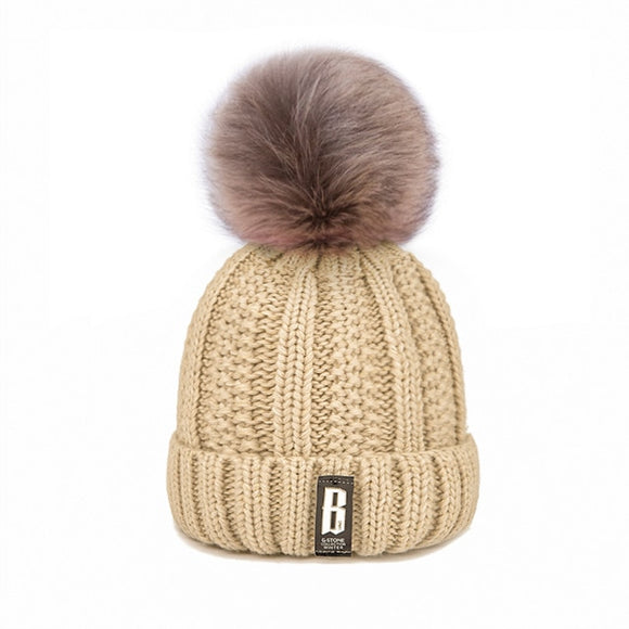 Winter Hat Cotton Knit Fashion Winter Warm - Layon&Loli