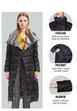 White Duck Down Ultra Light Jacket Women Winter Double Sided Slim Down Coat Single Breasted Parkas - Layon&Loli