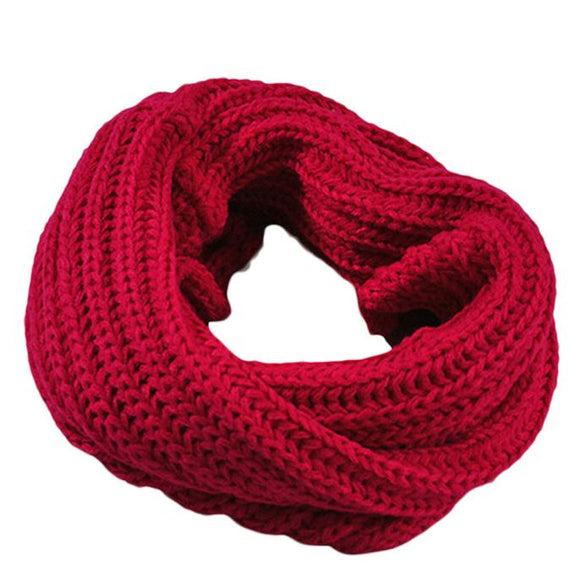 Unisex Scarf Knitted Circle Wool Scarf Shawl Wrap 2019 Winter Warm - Layon&Loli