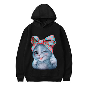 2019 Personality Halloween Guards Women Cat Print Long Sleeve Pullover - layanestore.myshopify.com-[product_type]