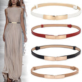 Belt dress simple versatile  Fashion Women Leather Belt Thin Skinny - Layon&Loli