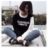 Women Hoodies Japanese Baby Girl Letter Print Harajuku Sweatshirt Casual - Layon&Loli