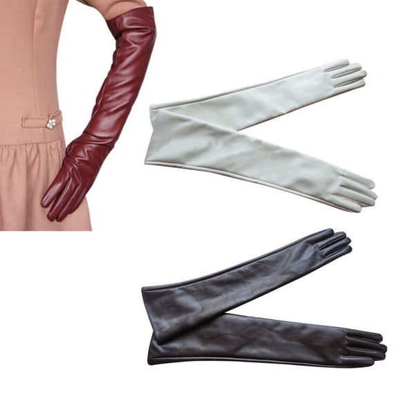 Hot Sale Women 7 Colors Opera Evening Party Gloves Faux Leather - layanestore.myshopify.com-[product_type]