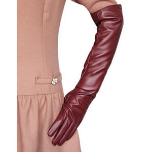 Hot Sale Women 7 Colors Opera Evening Party Gloves Faux Leather - Layon&Loli