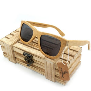 Vintage Bamboo Wooden Sunglasses Handmade Polarized Mirror - Layon&Loli