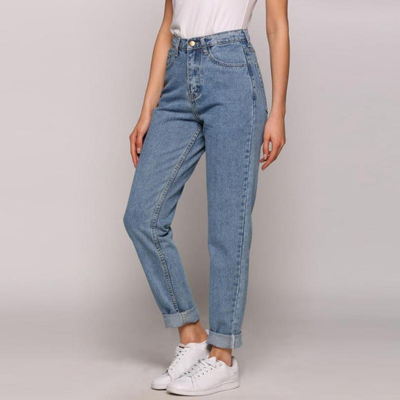 Slim Pencil Pants Vintage High Waist Jeans - layanestore.myshopify.com-[product_type]
