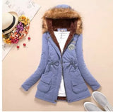 Fur Coats Women Long Sleeve Hooded Neck Zipper Button Plus Size - Layon&Loli