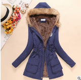 Fur Coats Women Long Sleeve Hooded Neck Zipper Button Plus Size - layanestore.myshopify.com-[product_type]