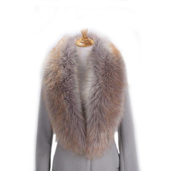 1pc Women Plus Size Warm Shawl Winter Imitation Fox Fur - Layon&Loli