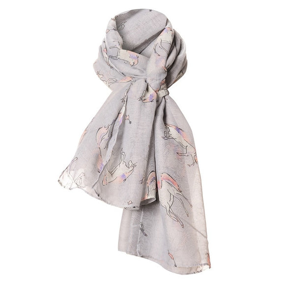 Women's Fashion  Running horse scarf Dog - Layon&Loli