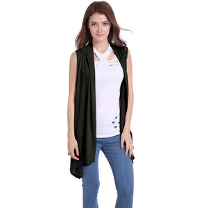 Vest Cardigan Coat Sleeveless Knitted Softly Bat Type Slim Outdoor - Layon&Loli