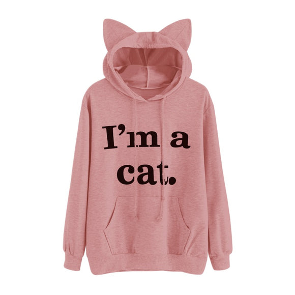 Hoodie Regular Full Sleeve Sweet Hooded Pullover Autumn Women Girl Sweatshirt Plus Size - layanestore.myshopify.com-[product_type]