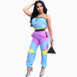 Strapless tracksuit 2019 Womens Jumpsuit Rompers - Layon&Loli