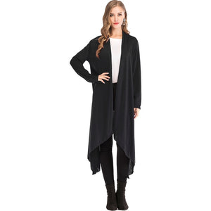 Thin Kimono Cardigan Long Sleeve Loose Asymmetric Hem Long Cardigan  XL-5XL Plus Size - Layon&Loli