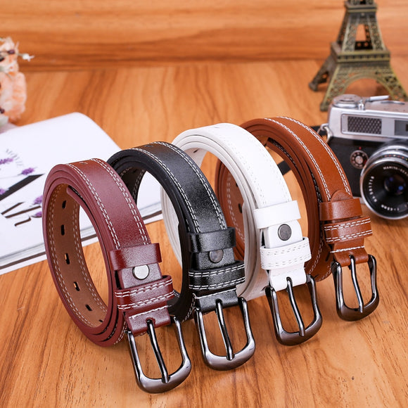 Women's Belt Lady Girls Female Waist Belt Leather Buckle - Layon&Loli