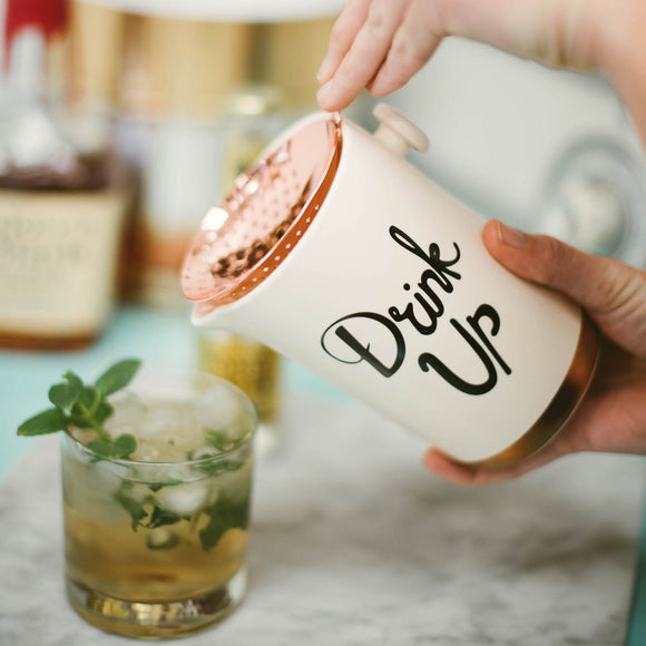 Copper & Ceramic Cocktail Shaker