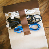 Genuine Leather Cord Organizer