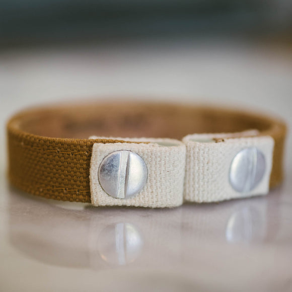 Tan Canvas Bracelet
