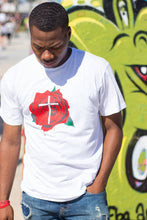 "Load image into Gallery viewer, ""Rose X Cross"" Tee"