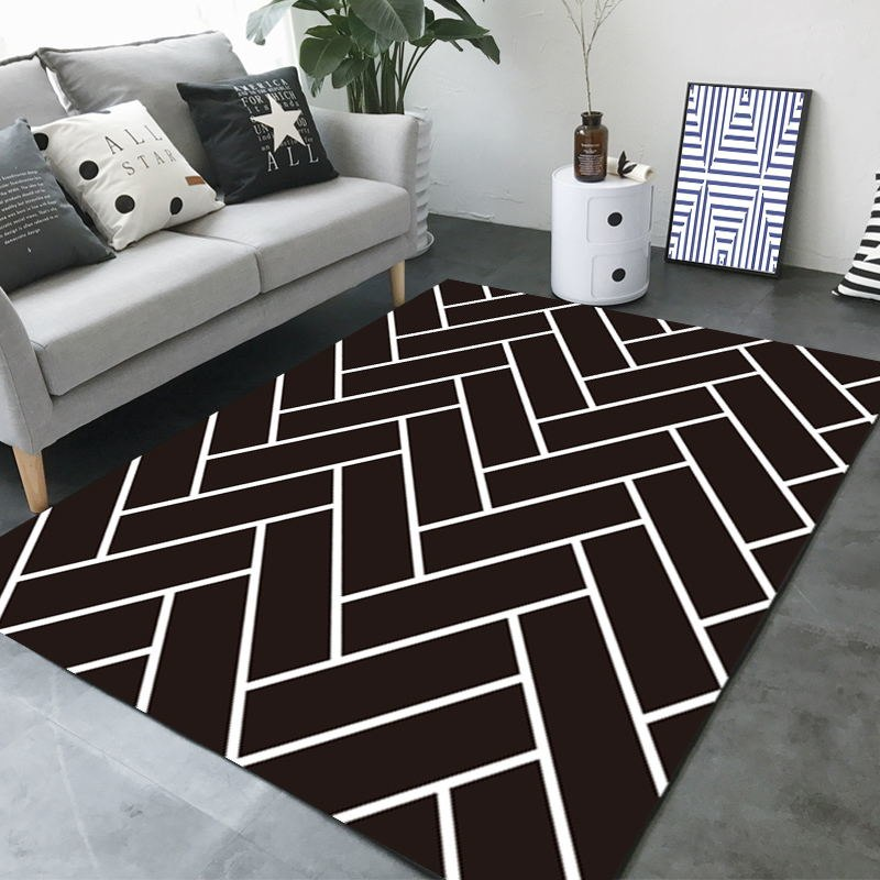 Herringbone Patterned Carpet
