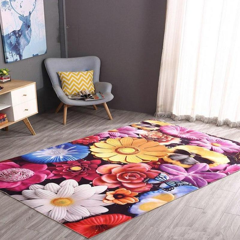 Colorful Flowers Carpet
