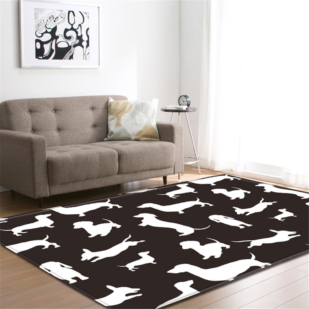 Dachshund Carpet - Black