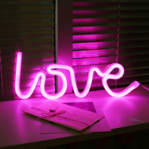 Lampara Neon Led Love de Pared