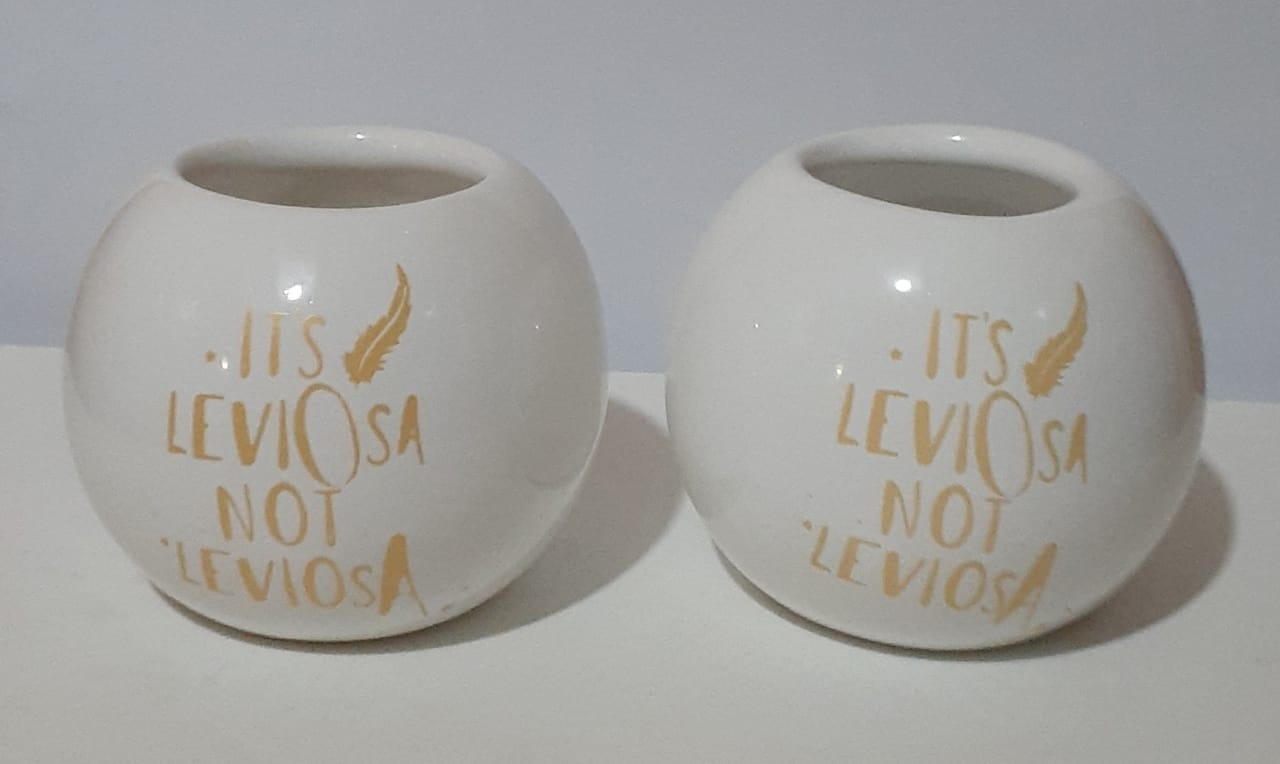 Mate Burbuja Harry Potter - Its Leviosa - Ceramica con Bombilla