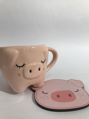 Kit Taza Big Pig Chanchita + Posa Taza