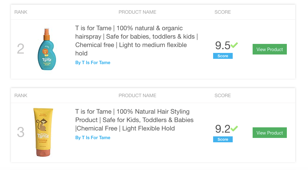 """T is for tame"" best baby hair gel"