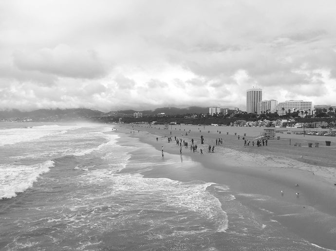 11x14 Mounted Black and White Photograph - Santa Monica, California