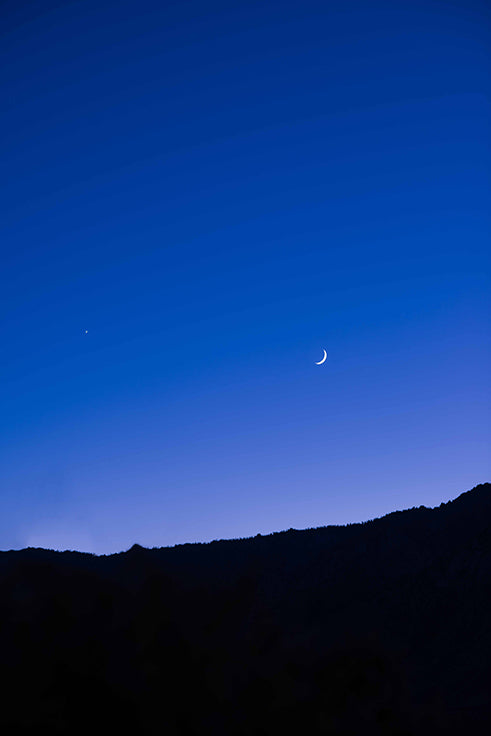 Crescent Moon over Death Valley