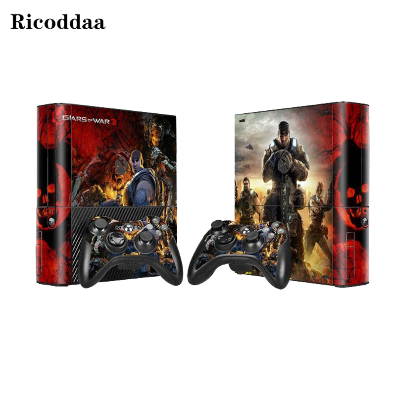 Gear of wars skin sticker protector for microsoft xbox 360 e and 2 controller skins stickers