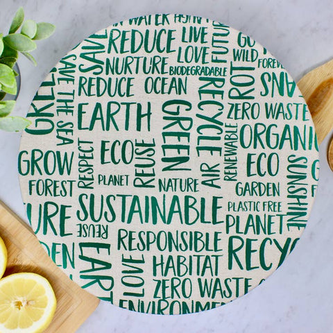 Large Word Cloud Bowl Cover
