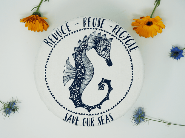 Medium Bowl Cover - Seahorse