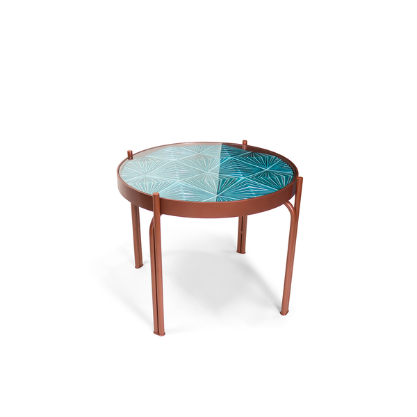 Maze Tile Round Side Table