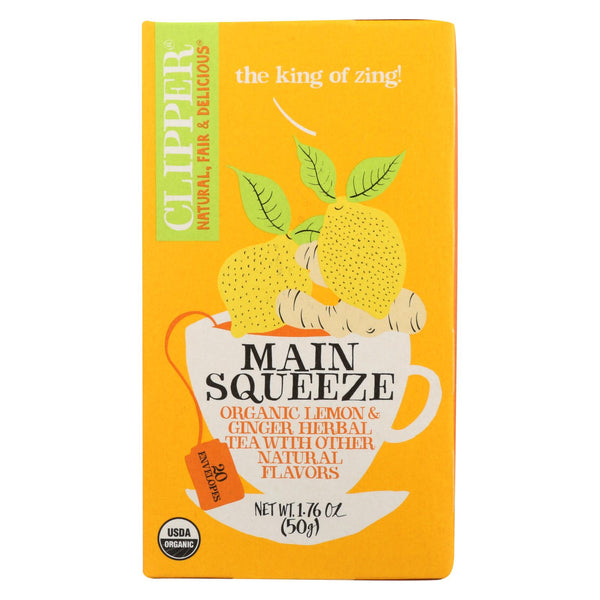 Clipper Tea - Organic Tea - Main Squeeze - Case Of 6 - 20 Bags