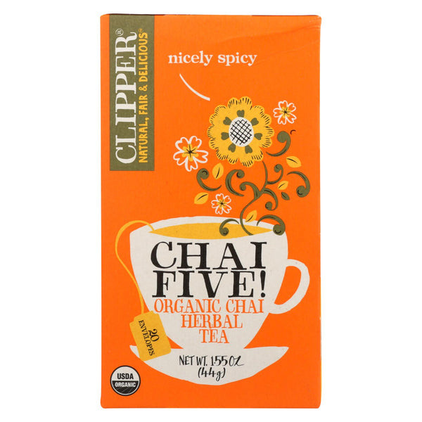 Clipper Tea - Organic Tea - Chia Five - Case Of 6 - 20 Bags