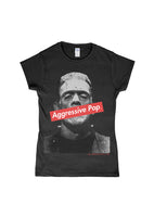 Aggressive Pop Tee #1 - Ladies Cut