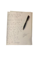 'We Go Down Together' Handwritten Lyric Sheet