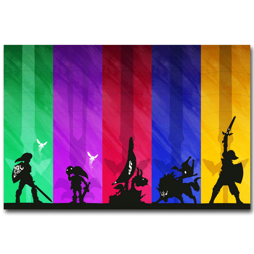 The Legend Of Zelda Majoras Mask Art Silk Fabric Poster 13x20 24x36inch Hot  Game Pictures For