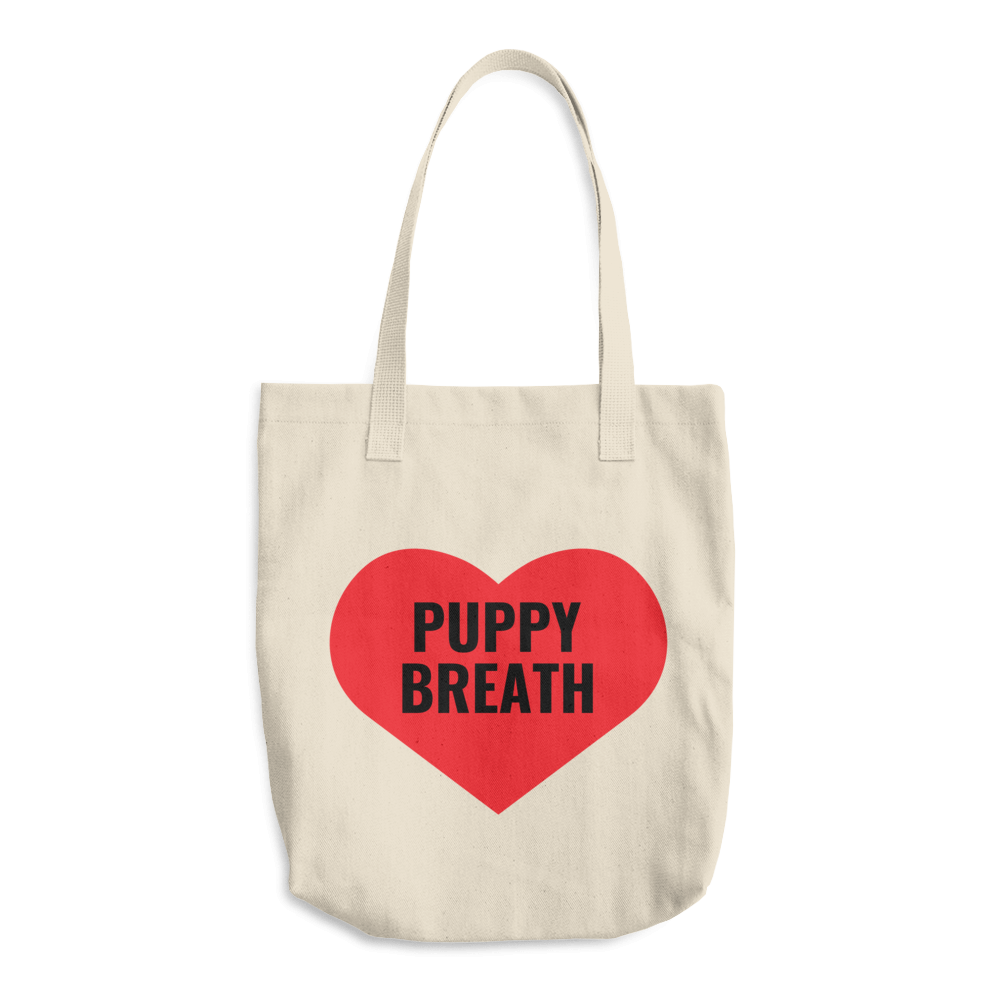 Heart Puppy Breath Tote Bag