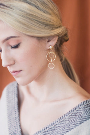 In A Perfect World Quadro layered interlocked circles earring.