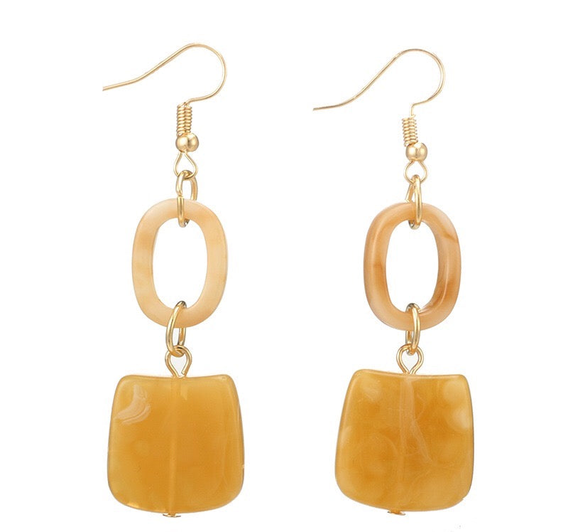 In A Perfect World acrylic nude jade earrings