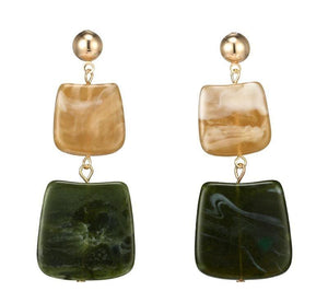 In A Perfect World emerald green jadeite oriental earring