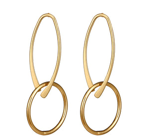 In A Perfect World wishbone-shaped dangle earring